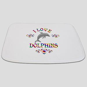 I Love Dolphins Bathmat