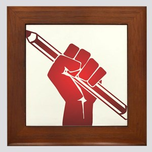 Pencil in a Raised Fist Framed Tile