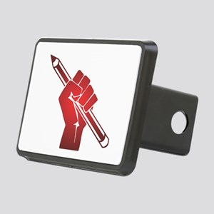 Pencil in a Raised Fist Rectangular Hitch Cover