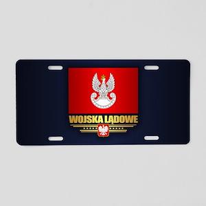 Polish Land Forces Aluminum License Plate
