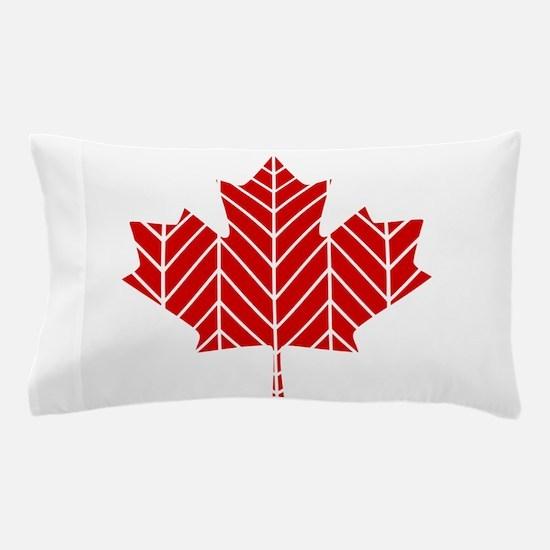 Chevron Maple Leaf Pillow Case