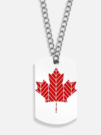 Chevron Maple Leaf Dog Tags