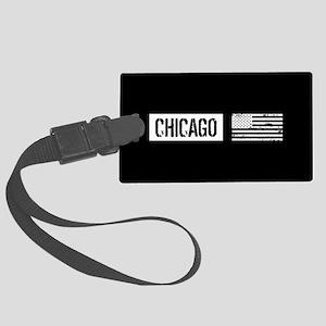 U.S. Flag: Chicago Large Luggage Tag
