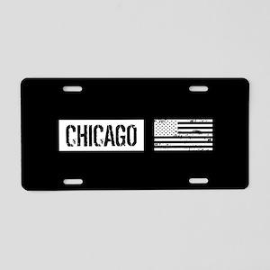 U.S. Flag: Chicago Aluminum License Plate
