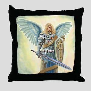 Saint Archangel Michael Throw Pillow