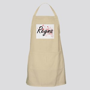 Reyna Artistic Name Design with Hearts Apron