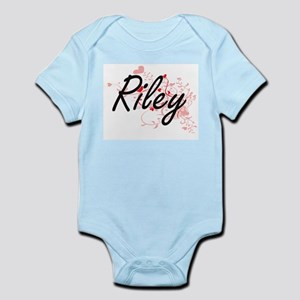Riley Artistic Name Design with Hearts Body Suit