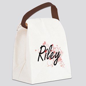 Riley Artistic Name Design with H Canvas Lunch Bag