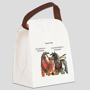 Team Talk 1 Canvas Lunch Bag