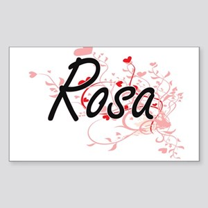 Rosa Artistic Name Design with Hearts Sticker