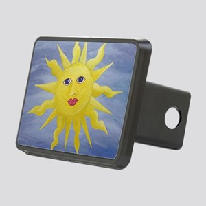Whimsical Sun Rectangular Hitch Cover