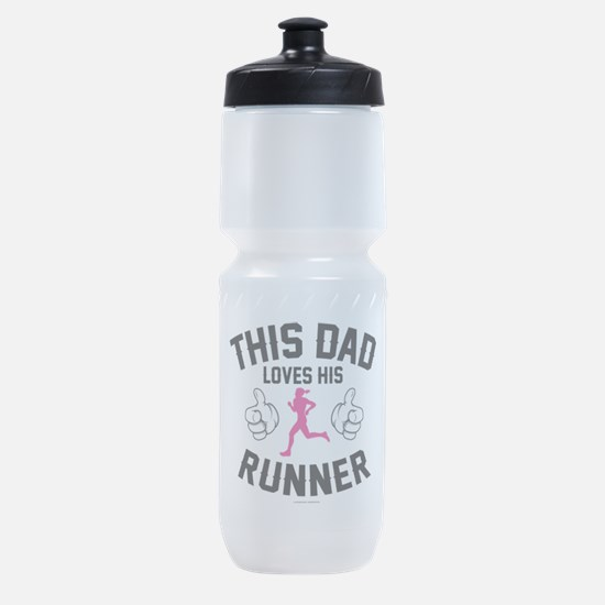 This Dad Loves His Runner Sports Bottle
