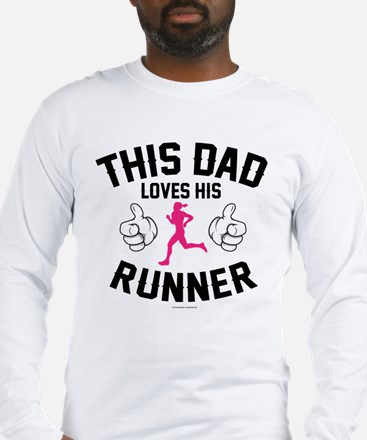 This Dad Loves His Runner Long Sleeve T-Shirt