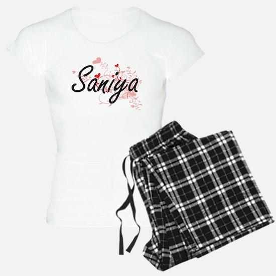 Saniya Artistic Name Design Pajamas