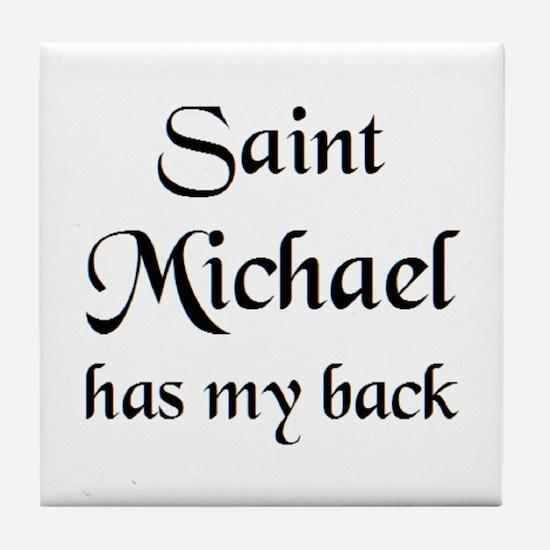 saint michael Tile Coaster