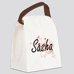 Sasha Artistic Name Design with H Canvas Lunch Bag