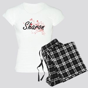 Sharon Artistic Name Design Women's Light Pajamas