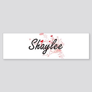 Shaylee Artistic Name Design with H Bumper Sticker