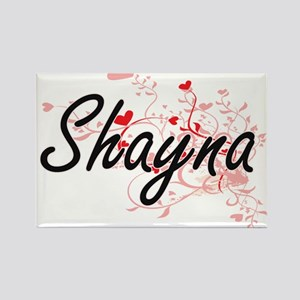 Shayna Artistic Name Design with Hearts Magnets