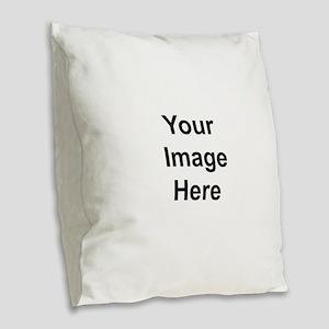 Personalised Burlap Throw Pillow