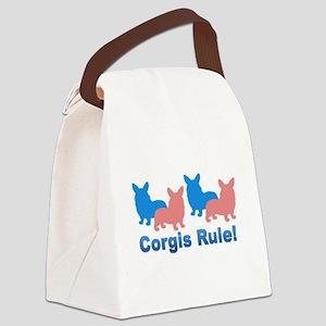 Corgis Rule Canvas Lunch Bag