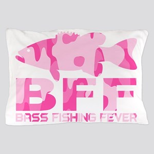 BASS FISHING GIRL Pillow Case