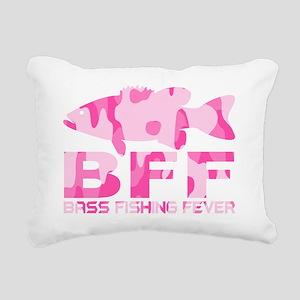 BASS FISHING GIRL Rectangular Canvas Pillow