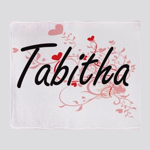 Tabitha Artistic Name Design with He Throw Blanket
