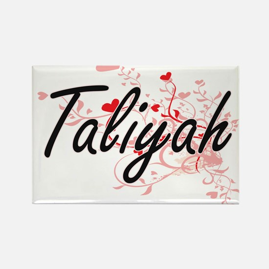 Taliyah Artistic Name Design with Hearts Magnets