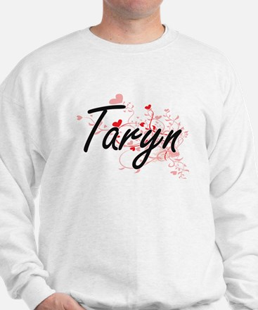 Taryn Artistic Name Design with Hearts Jumper