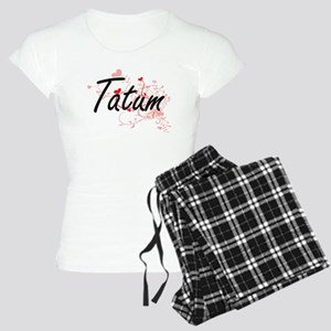 Tatum Artistic Name Design Women's Light Pajamas