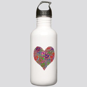 Peace Sign Heart Stainless Water Bottle 1.0L