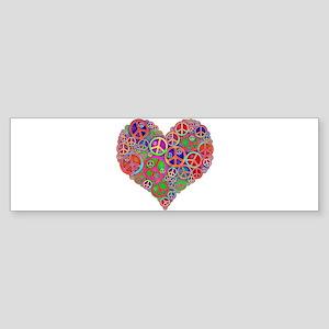 Peace Sign Heart Bumper Sticker
