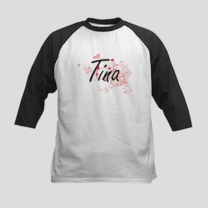 Tina Artistic Name Design with Hea Baseball Jersey
