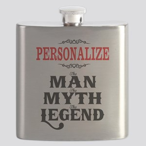 Custom Man Myth Legend Flask