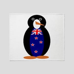 Penguin of New Zealand Throw Blanket