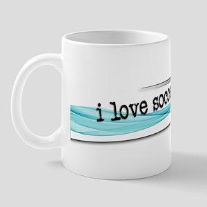 I love soccer double swish Mug