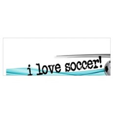 I love soccer double swish Framed Print