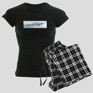 I love soccer double swish Women's Dark Pajamas