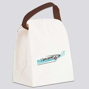 I love soccer double swish Canvas Lunch Bag