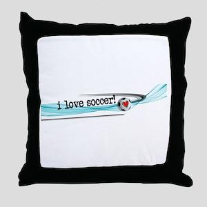 I love soccer double swish Throw Pillow