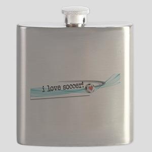 I love soccer double swish Flask