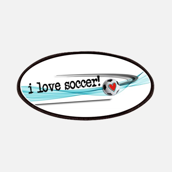 I love soccer double swish Patch