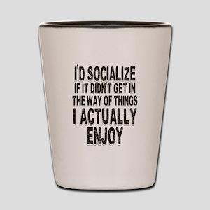 Antisocial Humor Shot Glass