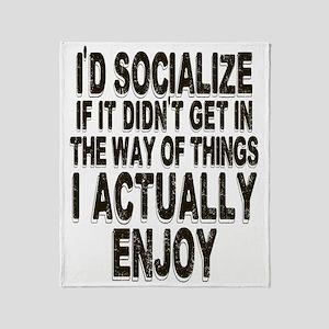 Antisocial Humor Throw Blanket