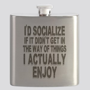 Antisocial Humor Flask