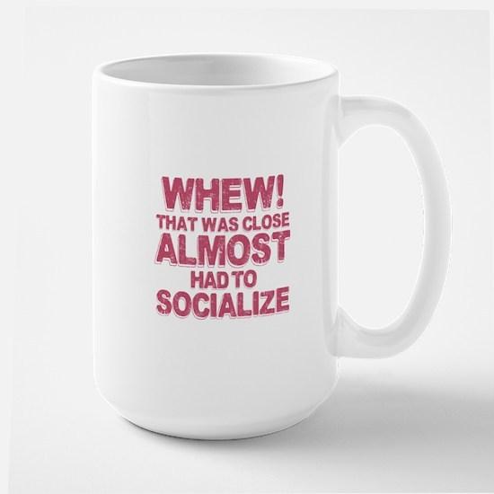 Introvert Social Anxiety Humor Large Mug