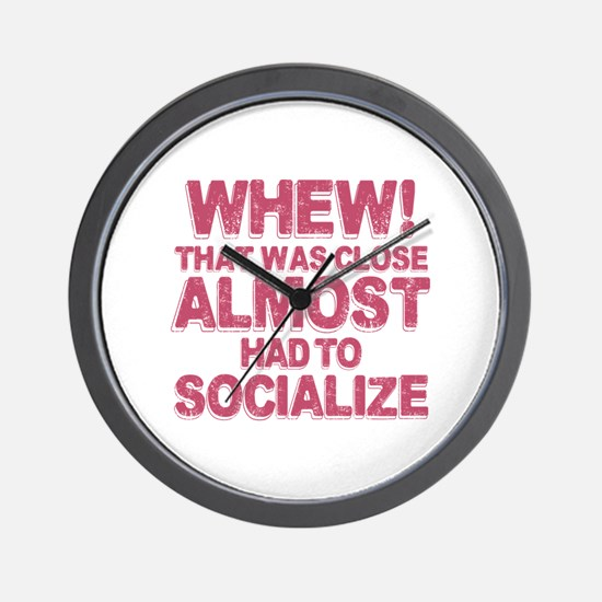 Introvert Social Anxiety Humor Wall Clock