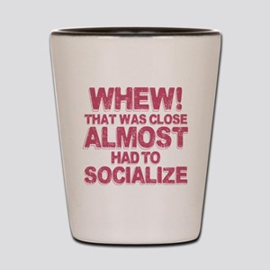 Introvert Social Anxiety Humor Shot Glass