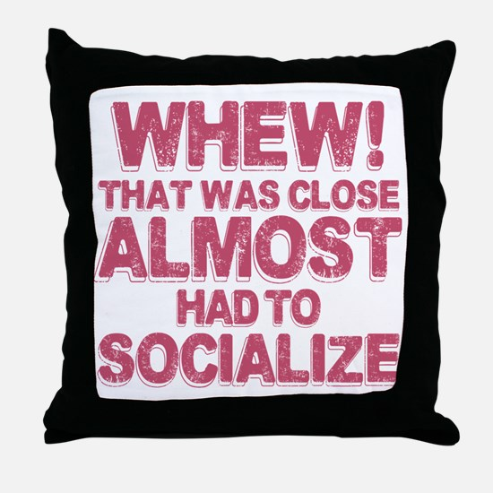 Introvert Social Anxiety Humor Throw Pillow